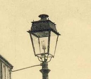 19eme Siecle Lanterne Eclairage Public